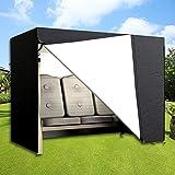 DWDMZ Housse de siège de Jardin imperméable pour balancelle 3 Places Noir 220 x 170...