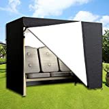 Dightyoho Funda para Balancín, Fundas para Muebles de Jardín, Protecrora de Columpio, Impermeable, Anti Rayos UV, 220 x 145 x 170 cm