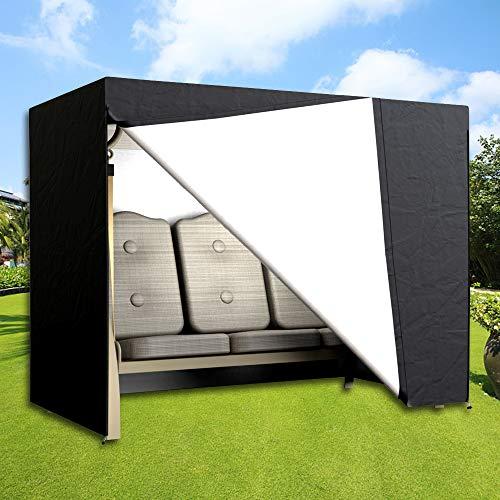 Dightyoho Schutzhülle hollywoodschaukel 3 sitzer wasserdicht Abdeckung für Gartenschaukel 220 x 170 x 145 cm aus Polyethylen