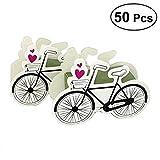 UEETEK 50 Stück Geschenkbox,Fahrrad Design Süßigkeitskästen für Geburtstag/Party/Taufe