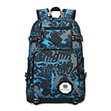 Shoulders Bag Men's Women's Multifunction Backpack Boys Girls School Bag Canvas Rucksack