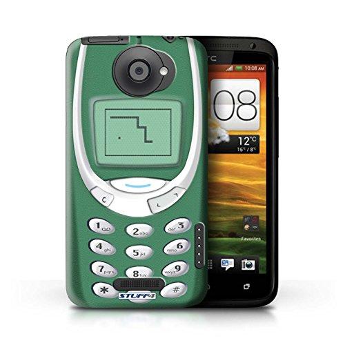 Kobalt® Imprimé Etui / Coque pour HTC One X / Nokia 3310 bleu conception / Série Portables rétro Nokia 3310 vert