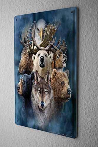 Cartello Targa In Metallo Decorativo Pratica Veterinario Alaska Animali Piastra Insegna Metallica 20X30 cm