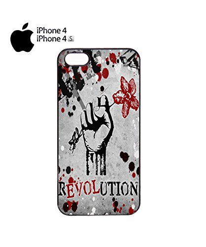 Revulation Love Rose Hand Flower Design Cool Mobile Phone Case Cover iPhone 6 Plus + Black Noir