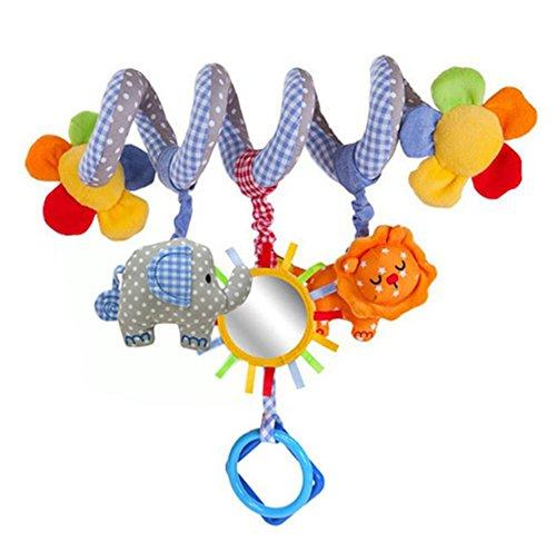-12 Monate Baby Spielzeug Spiralbett und Auto Kinderwagen Sitz Hängen Baby Pädagogisches Rassel Spielzeug für Neugeborene geschenke,Blume (Auto Sitz 12 Monate)