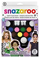 Snazaroo Schminkfarben Ultimatives Party Set, Schminkpale...