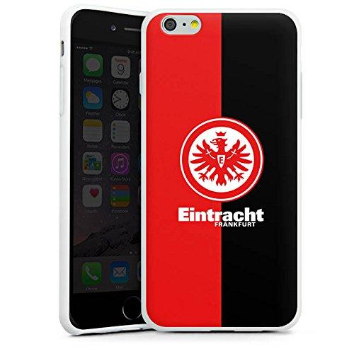 Apple iPhone 6 Tasche Hülle Flip Case Eintracht Frankfurt Fanartikel SGE Bundesliga Silikon Case weiß