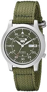 Seiko - SNK805K2 - 5 - Montre Homme - Automatique Analogique - Cadran Vert - Bracelet Tissu Vert