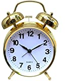 #6: Jamboree Analog Black, Smart Buy Alarm Clock with Nightlight, Cuitan Vintage Silent Ticking Table Twin Bell Wake Up Alarm Clock for Students/Children/Office Workers/Travelers, Battery Operated (Battery Is Not Included) Clock