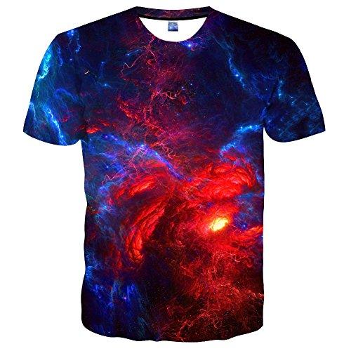 Syaimn Unisex 3D Pattern Print Kurzarm T-Shirts Beiläufige Grafik T-Shirts Multicoloured 15
