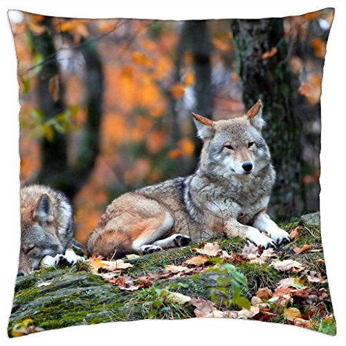 """Forest Wolves - Throw Pillow Cover Case (18"""" x 18"""")"""