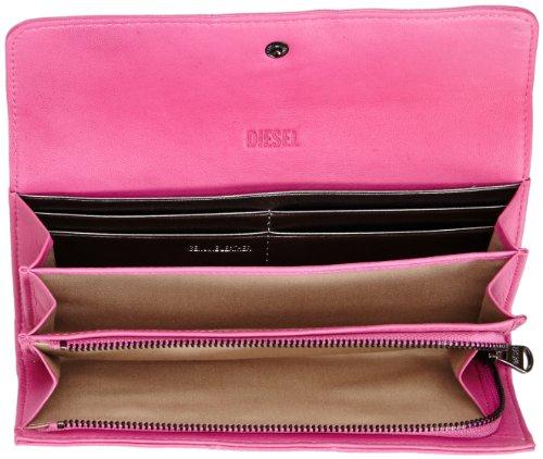 Diesel GEMSTUDS AMAZONITE S X02437PR472, Portafogli Donna Rosa (Pink (Super Pink T5004)