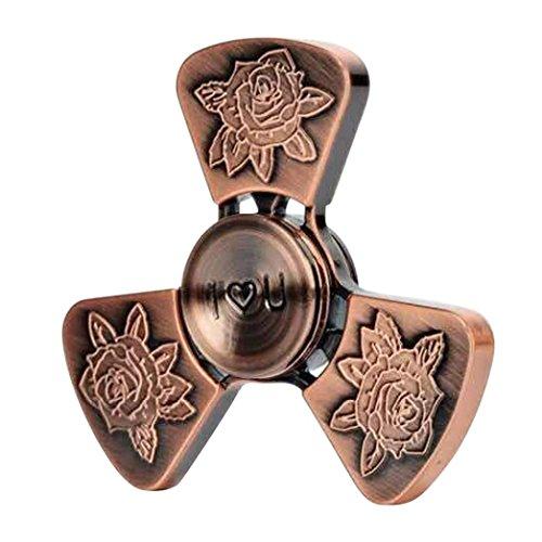 Preisvergleich Produktbild Ouneed Fidget Spinner Hand Spinner Spielzeug , Fidget Spinner i love you rose metal 3 Finger perfect gift Spielzeug