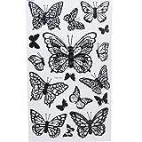 JUSTFOX - 3D Schmetterlinge Wanddeko Wandtattoo Wandaufkleber