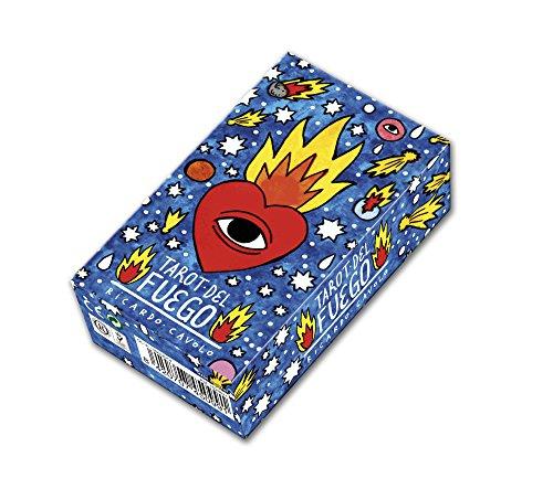 Fournier Tarot del Fuego por Ricardo Cavolo Baraja de Cartas, Color Azul 1029641