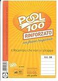 BLOCCO FOGLI A BUCHI RICAMBIO A5 RINFORZATO RIGHE SENZA MARGINE 100 GR. CM. 15X21