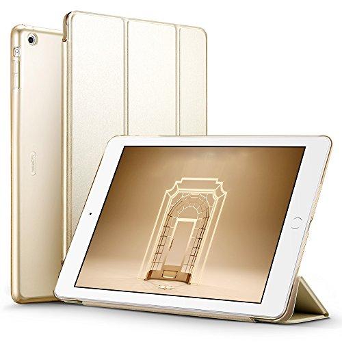 iPad Air Hülle, ESR® Yippee Series Auto aufwachen / Schlaf Funktion Wickelfalz Ledertasche mit Lichtdurchlässig Rückseite Abdeckung Leichtgewicht Schutzhülle für iPad Air / iPad 5 (Champagner Gold)
