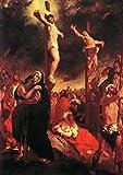 Fernando Victor Eugene Delacroix: Cristo en la cruz. Impresión de la bella arte religioso/Poster. Tamaño A4 (29,7 cm x 21 cm)