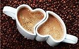 Tazze di cuore per gli amanti