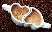 du Mio. Ich tuo). Abbiamo uno. & # x2022; alta qualità tazze di ceramica per innamorati & # x2022; tazze in a forma di cuore, che si adatta esattamente ad incastro & # x2022; romantico design-Zucchero dolce amore Motiv-per ve...