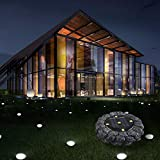 About1988 LED Solar Licht,Solar Garten Licht Stehlampe Nachahmung Stein Im Freienlicht-wasserdichter Solarrasen-Garten-Weg imprägniern die Landschaft IP65 (FarbeC)