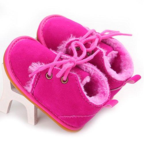 Baby-Winter-Schuhe weiche Sohle Baby-Mädchen-erste Wanderer (L: 12 ~ 18 Monate, Rosa) Rose Red