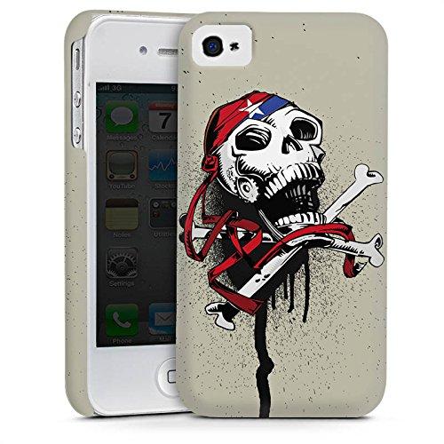 Apple iPhone 6 Housse Étui Silicone Coque Protection Pirate Mort Tête de mort Cas Premium mat