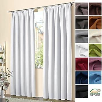 woltu 489 2 2er set gardinen vorhang blickdicht mit kr uselband leicht verdunklungsvorh nge. Black Bedroom Furniture Sets. Home Design Ideas