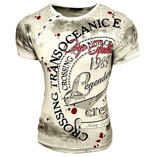 HERREN T-Shirts TShirt NEU Größe S M L M XL XXL RUNDHALS KURZARM Regular RN15045 Hellgrau