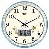ZHDC® Orologio da parete Soggiorno Ufficio semplice Muto L'orologio Orologio da tasca creativo orologio al quarzo calendario perpetuo Home wall clock ( Colore : #2 , dimensioni : 35*35cm )