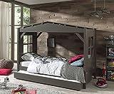 Vipack Hausbett Pino Einzelbett Kinderbett Spielbett Bett Taupe