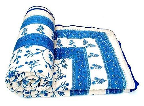 Jaipuri World Famous Light Weight Pure Cotton Multi Colour Single Bed Quilt / Rajai / Razai