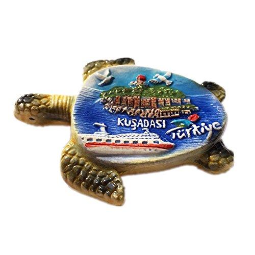 Tiere Schildkröte KUSADASI Türkei Keramik 3D starker Kühlschrank Magnet Souvenir Tourist Geschenk Chinesische Magnet Hand Made Craft Creative Home und Küche Dekoration Magnet Sticker
