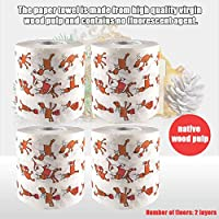 Elementral 4PCS Christmas Toilet Paper Home Santa Claus Bathroom Toilet Paper, Christmas Supplies Xmas Decor Tissue decent