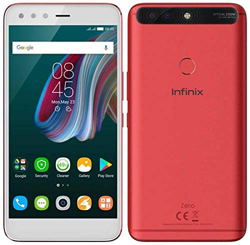 Infinix Zero 5 64GB ROM, 6GB RAM 12+13MP 16MP, 4G Volte, RED Color, Open Box