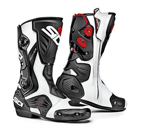 Sidi - stivali moto racing sidi roarr bianco nero - sss12a - 39