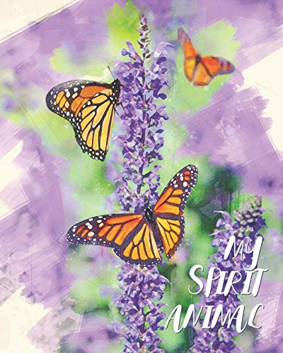 My Spirit Animal: Butterflies & Lavender Watercolor - Lined Notebook, Diary, Track, Log & Journal - Cute Gift for Girls, Teens, Women Who Love Butterfly (8
