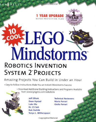 10 Cool Lego Mindstorm Robotics Invention System 2 Projects: Amazing Projects You Can Build in Under an Hour (Lego Mindstorms)