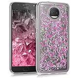 kwmobile Funda para Motorola Moto G5S Plus - Case para móvil de TPU silicona - Cover trasero en rosa fucsia transparente