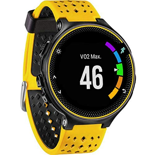 JiaMeng para Garmin Forerunner 735XT Watch2,Banda de Reloj de Repuesto de Correa de Silicona Suave(Amarillo)