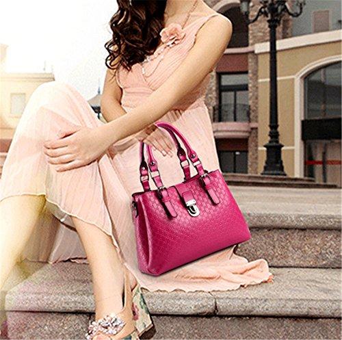Xinmaoyuan Borse donna borsetta incrociate in diagonale Middle-Aged femmina quadrato piccolo sacchetto,Golden Rose Red