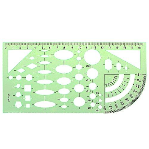 JAGENIE Grün Geometrische Vorlage Lineal Zeichenwerkzeuge Mapping Student Schule Stationery