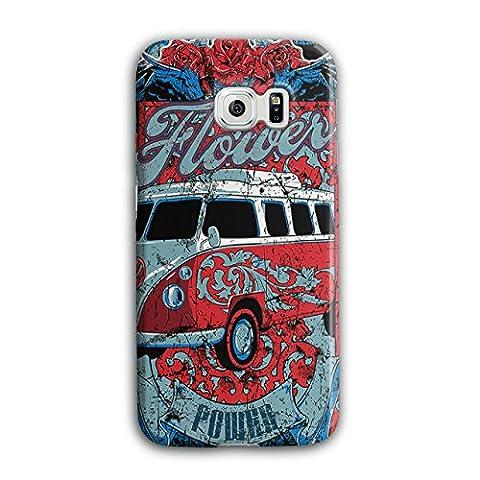 Flower Power Hippy Camper Van 3D Samsung Galaxy S6 Edge Case | Wellcoda