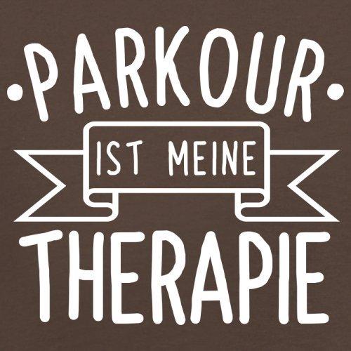 Parkour ist meine Therapie - Herren T-Shirt - 13 Farben Schokobraun