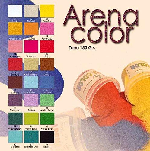 Arena Color para manualidades Bote 150gr color Rojo
