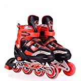 Dealcrox Inline Skates Size Adjustable All Pure PU Wheels It Has Aluminum-Alloy