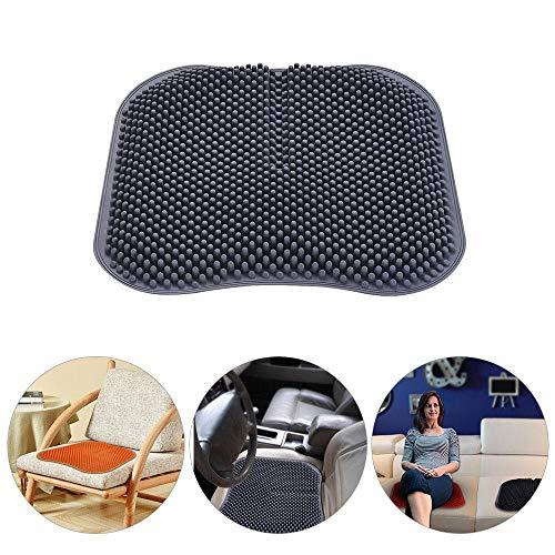 leegoal Gel Sitzkissen,3D-Pillar-Design Massage Pad Atmungsaktive elastische Stützsitze Für Auto, bürostuhl, Rollstuhl Sowie Reisen