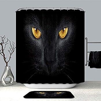 Unimall rideaux de douche 180x200cm imperm able et anti moisissure imprim l opard noir rideaux - Moisissure noire douche ...
