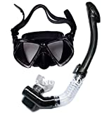 #5: Add-gear Silicone Diving Mask Anti-Fog Goggles Glasses + Snorkel Breathing Tube Set