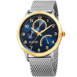 Best August Steiner Mens Bracelets - August Steiner Men's Quartz Stainless Steel Casual Watch Review